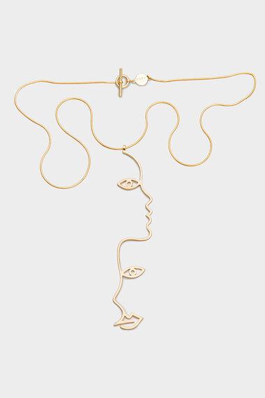 Two Face Necklace, 18K Gold Vermeil