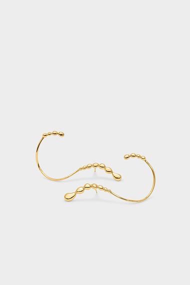 Memories S Earrings, 18K Gold Vermeil