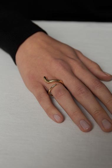 S Ring, 18K Gold Vermeil
