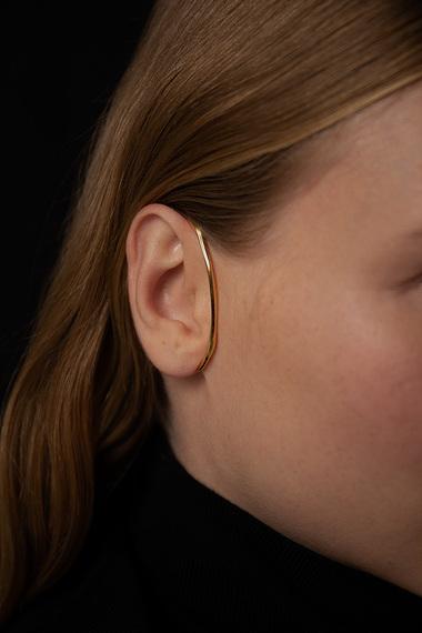 Form C Ear Cuff, 18K Gold Vermeil