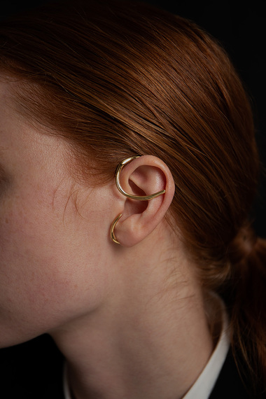 Oksa Ear Cuff, Vermeil