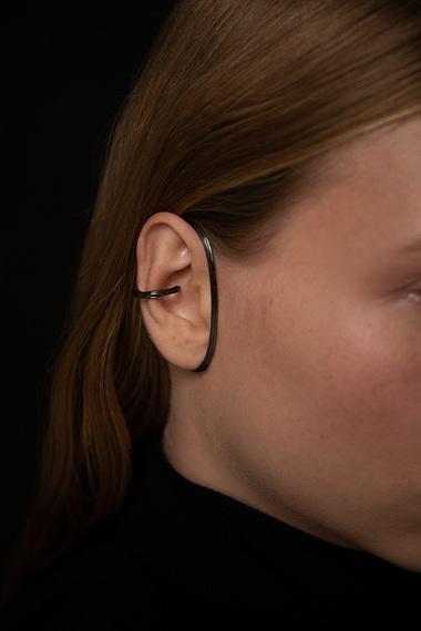 Virta Ear Cuff, Ruthenium Plated