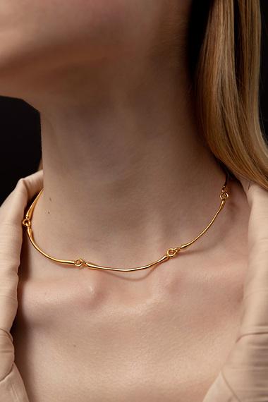 Articulated Choker Necklace, Vermeil