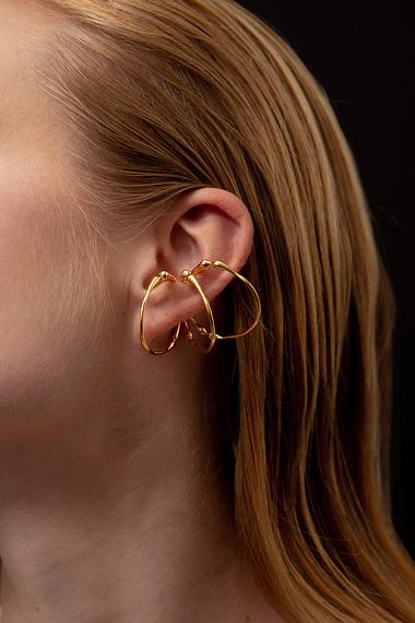 Triple Hoop Ear Cuff, Vermeil